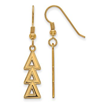 Gold-Plated Sterling Silver Delta Delta Delta Greek Life Earrings