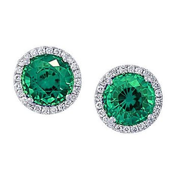 Emerald Earrings-CE3829WEM
