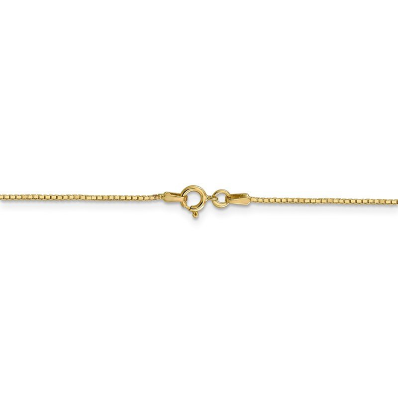 Quality Gold 14k .9mm Box with Spring Ring Clasp Chain