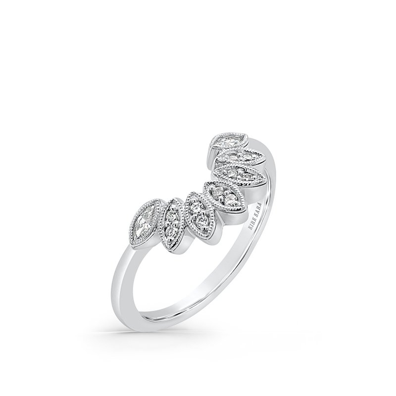 Kirk Kara Boho Floral Diamond Wedding Band