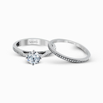 Simon G MR1511 WEDDING SET