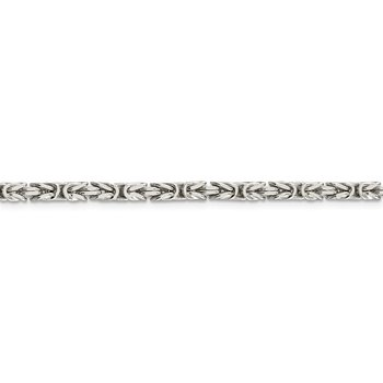 Sterling Silver 3.25mm Byzantine Chain