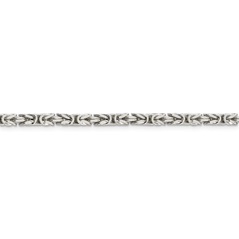 Quality Gold Sterling Silver 3.25mm Byzantine Chain