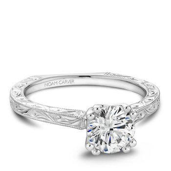 Noam Carver Vintage Engagement Ring B001-02EA