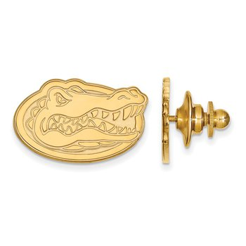 Gold-Plated Sterling Silver University of Florida NCAA Lapel Pin