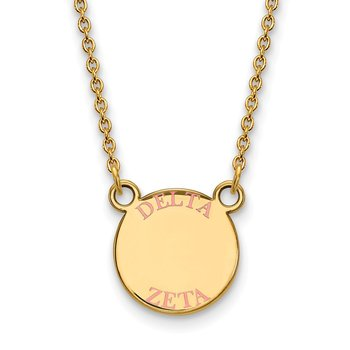 Gold-Plated Sterling Silver Delta Zeta Greek Life Necklace