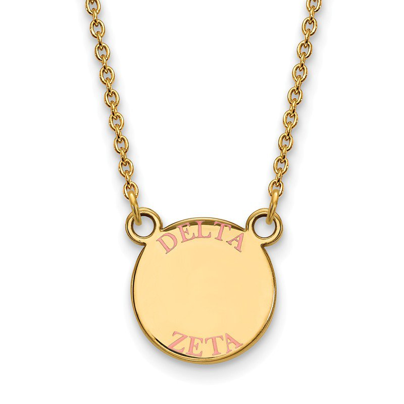 Greek Life Gold-Plated Sterling Silver Delta Zeta Greek Life Necklace