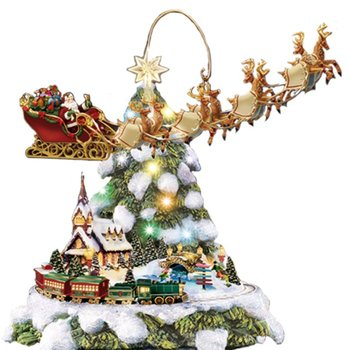 Thomas Kinkade 'Wonderland Express' Christmas Tabletop Tree