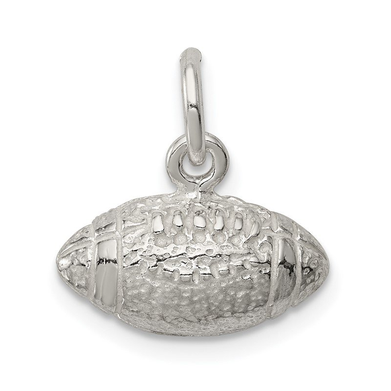 Quality Gold Sterling Silver Football Charm