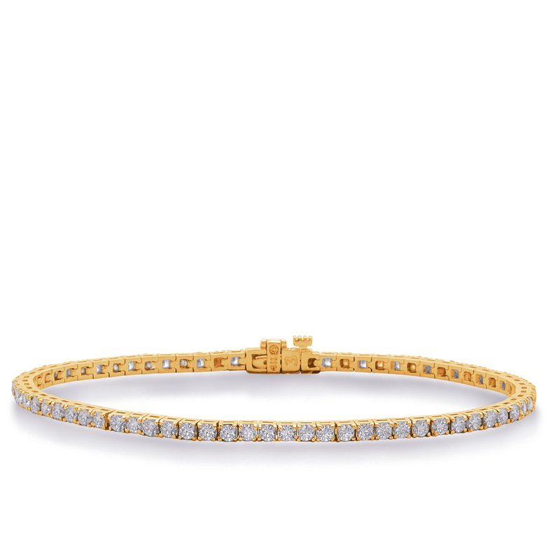 Briana Yellow Gold Diamond Tennis Bracelet