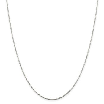 Sterling Silver .9mm 8 Sided Diamond-cut Mirror Box Chain