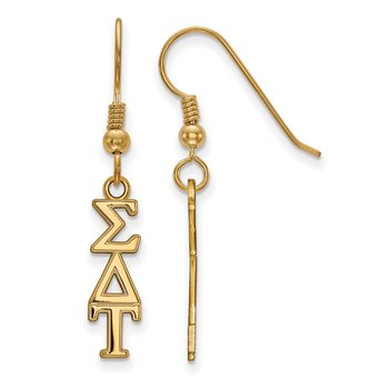 Gold-Plated Sterling Silver Sigma Delta Tau Greek Life Earrings