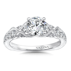 Valina Engagement Ring With Diamond Side Stones in 14K White Gold (0.29 ct. tw.)
