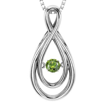 14K Green Diamond Rhythm Of Love Pendant 1/10 ctw