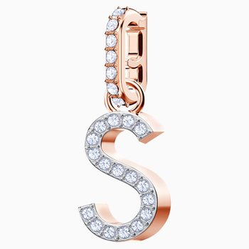 Swarovski Remix Collection Charm S, White, Rose-gold tone plated