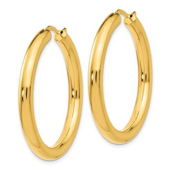 Leslie's Sterling Silver Gold-plated 3.5mm Tube Earrings