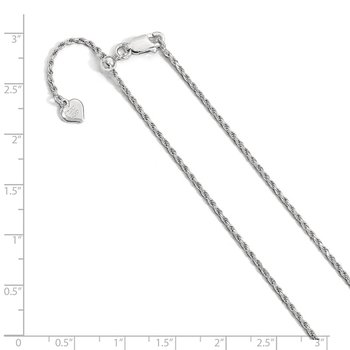 Leslie's Sterling Silver 1.4 mm Adjustable Rope Chain