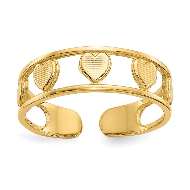 Quality Gold 14k Heart Toe Ring