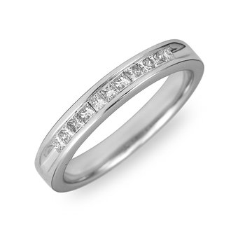 14K WG & PD Diamond Wedding Band Machine Set