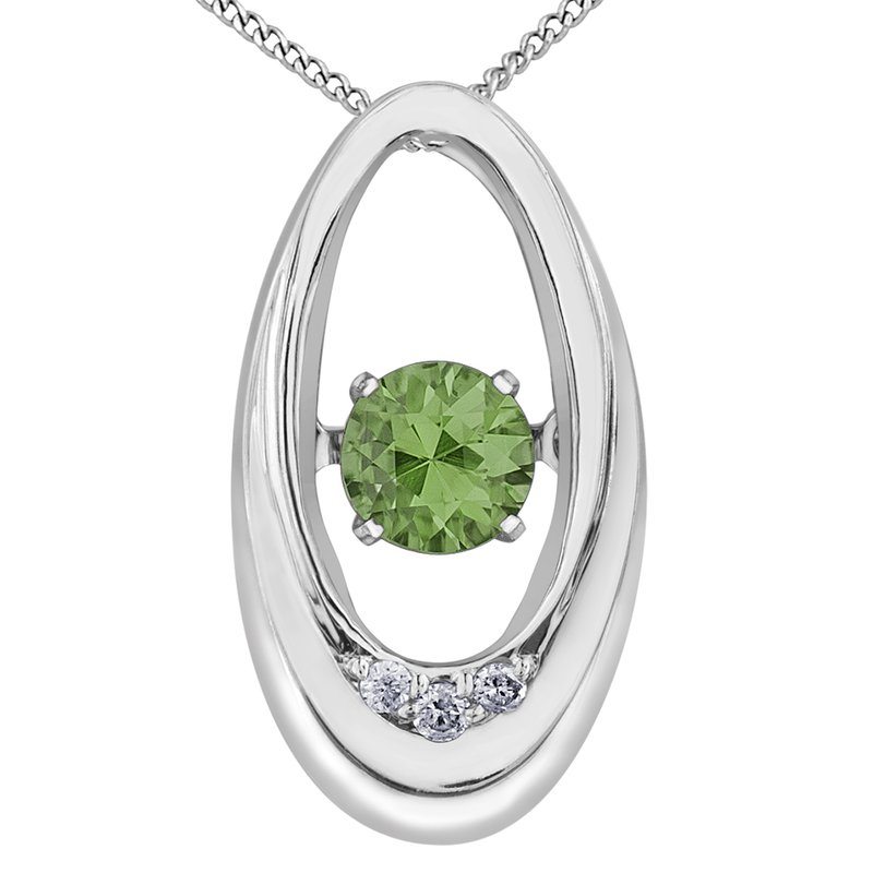 Diamond Wishes Peridot Pendant