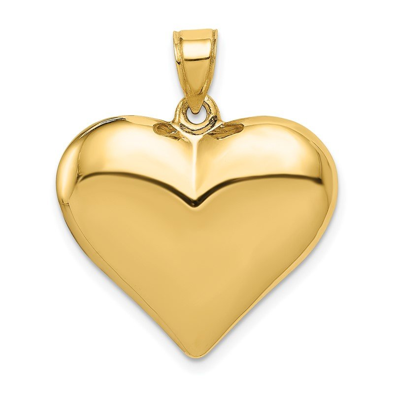 Fine Jewelry by JBD 14K Polished 3-D Puffed Heart Pendant