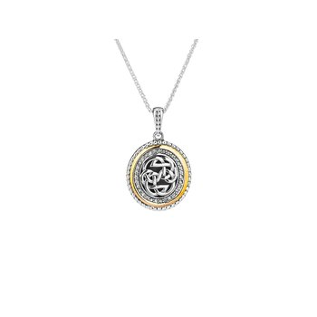 Path of Life White Sapphire Pendant