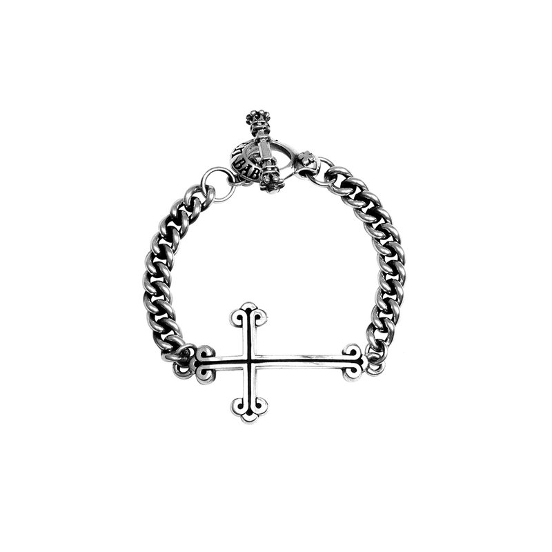 King Baby King Baby Chain Bracelet With Cross