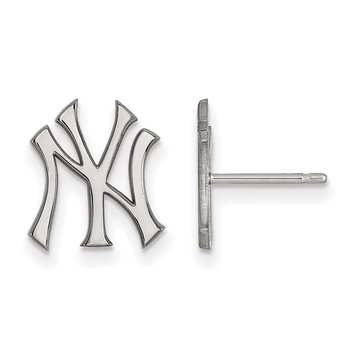 Sterling Silver New York Yankees MLB Earrings