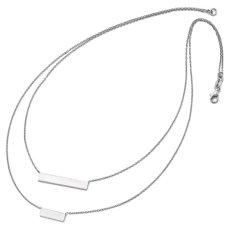 Leslie's Leslie's Sterling Silver Double Bar Necklace