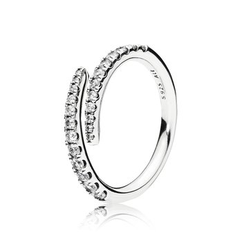 Shooting Star Ring, Clear Cz
