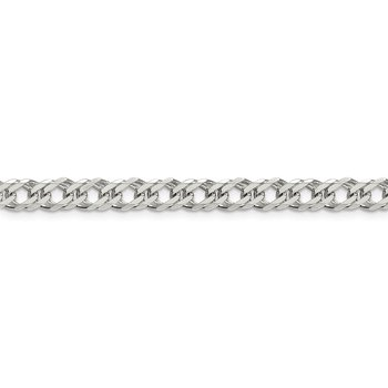 Sterling Silver 5.25mm 6 Side D/C Flat Double Curb Chain