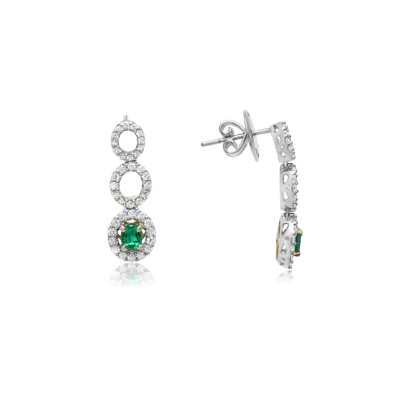 Roman & Jules Emerald & Diamond Drop Earrings
