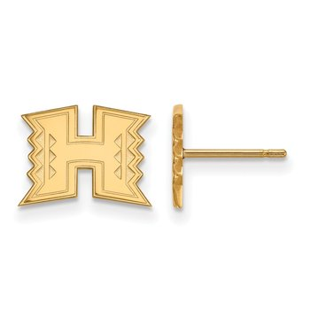 Gold University of Hawaii NCAA Earrings