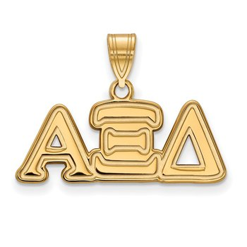 Gold-Plated Sterling Silver Alpha Xi Delta Greek Life Pendant