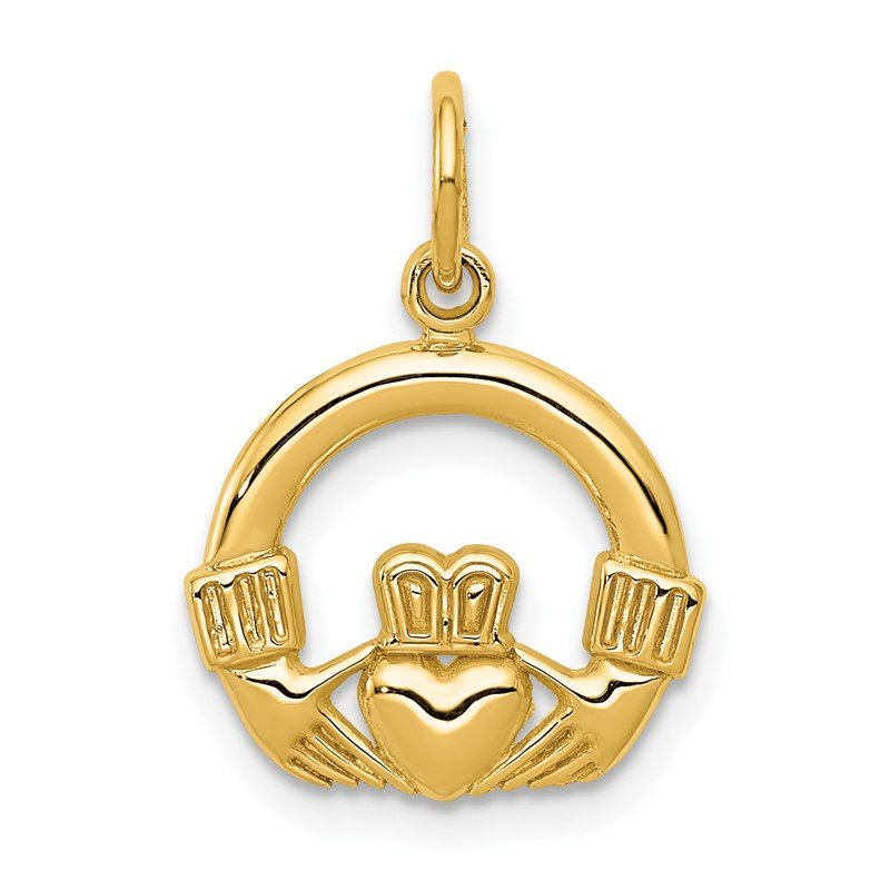 Quality Gold 14k Claddagh Charm