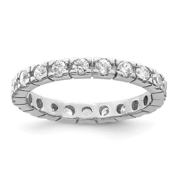 Sterling Silver CZ Polished Eternity Ring