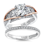Valina Diamond Engagement Ring Mounting in 14K White/Rose Gold (.53 ct. tw.)