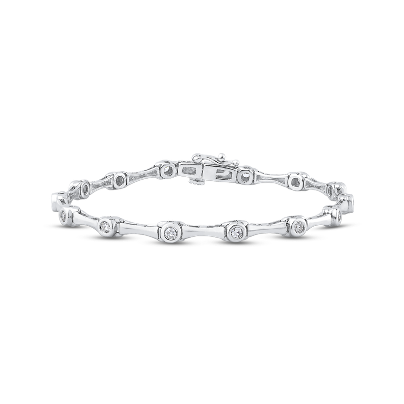 Essentials 3/4 ct Round White Diamond 14K White Gold Tennis Bracelet