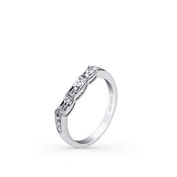 Artful Milgrain Diamond Wedding Band