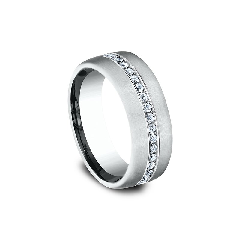Benchmark Comfort-Fit Diamond Wedding Ring