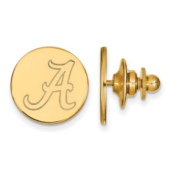 Gold University of Alabama NCAA Lapel Pin