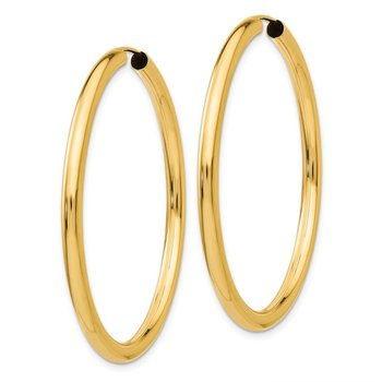 14k Polished Endless Tube Hoop Earrings