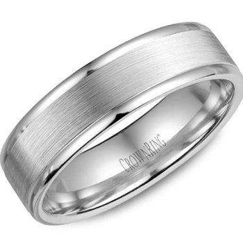 CrownRing Men's Wedding Band WB-6925SP