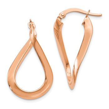 Leslie's 14K Rose Gold-plated Polished Hoop Earrings