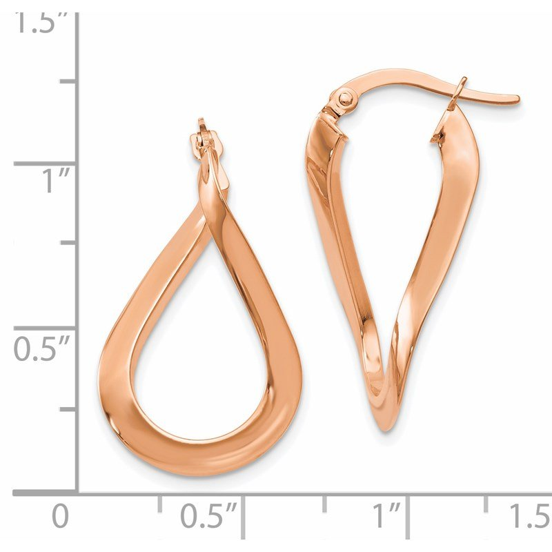 Leslie's Leslie's 14K Rose Gold-plated Polished Hoop Earrings