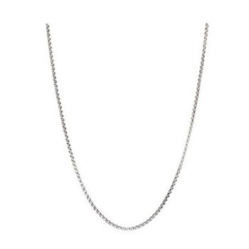 Oxidized Silver Box Chain Necklace With Snap Closure