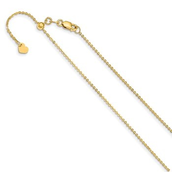 Leslie's 14K Adjustable 1.2mm Flat Cable Chain