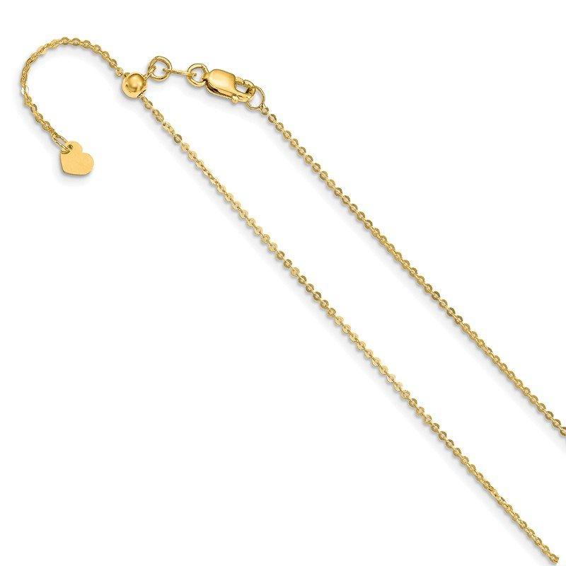 Leslie's Leslie's 14K 1 mm Flat Cable Adjustable Chain