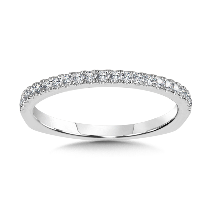 Valina Bridals Diamond and 14K White Gold Wedding Ring (0.19 ct. tw.)