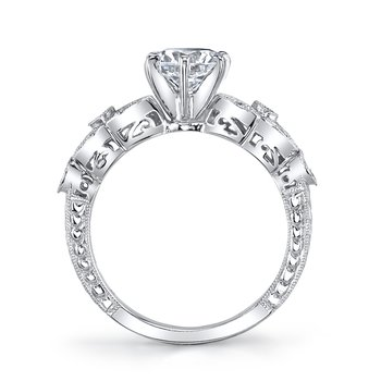 MARS 25779 Diamond Engagament Ring 0.21 Ctw.